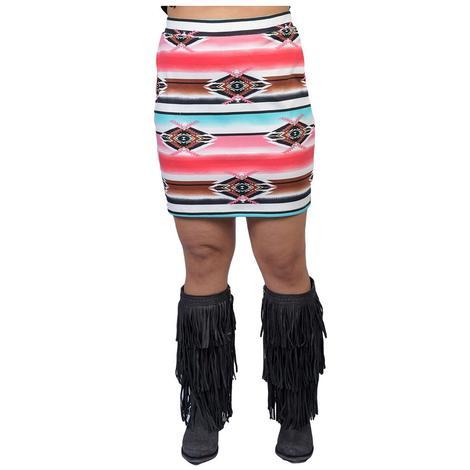 Wrangler Womens Serape Western Skirt