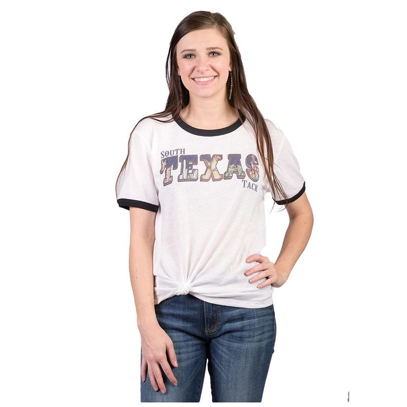 Stt Womens Texas Tack Desert Ringer Tee