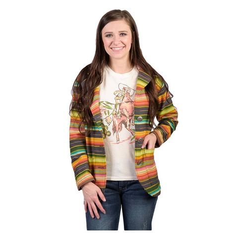 Silverado De Colores Long Sleeve Multicolor Serape Jacket