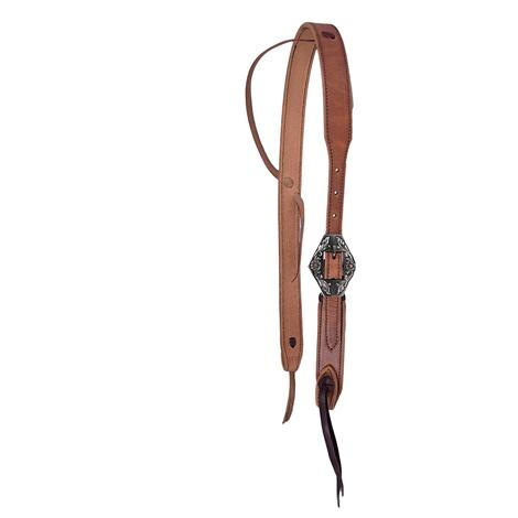STT Floral Diamond Buckle Cowboy Knot Headstall