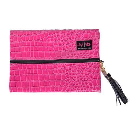 Meredith Hot Pink Croc Bag - Medium