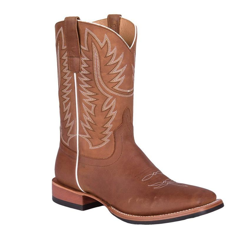 Horsepower Mens Get To Work Honey Crazy Horse Boots