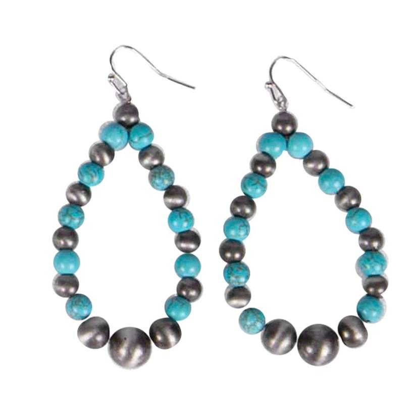 Graduated Turquoise Tear Drop Earrings