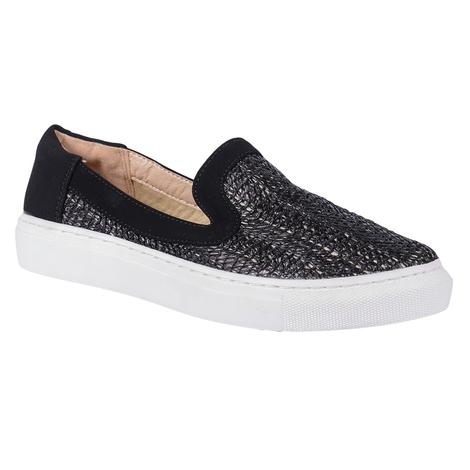SBICCA Womens Rafa Black Mesh Slip On Shoe
