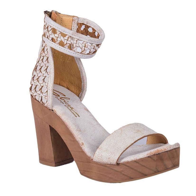 Sbicca Womens Daytrip Sparkly White Heeled Shoe