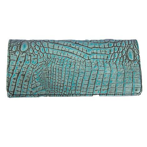 Juan Antonio Horn Back Turquoise Wallet