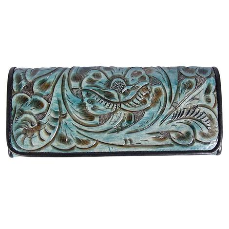 Juan Antonio Tooled Turquoise Wallet