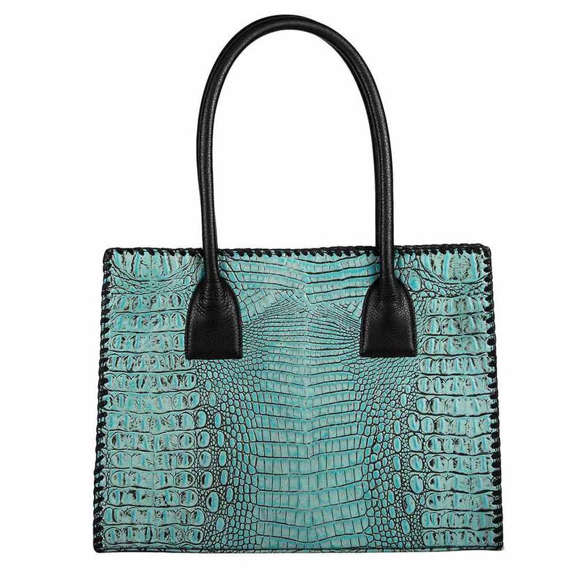 Juan Antonio Turquoise Horn Back Tote Bag
