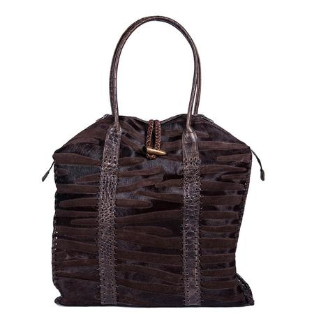 Juan Antonio Hair on Brown Zebra Tote Bag