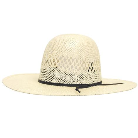 Rodeo King Twisted Toyo Open Crown 4.5 Brim Natural Straw Hat