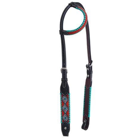 Rafter T Ranch Embroidered Aztec Single Ear Headstall