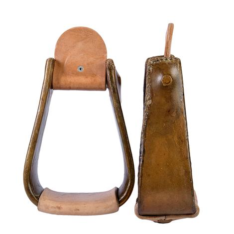 3in Laced Edge Rawhide Roper Stirrups