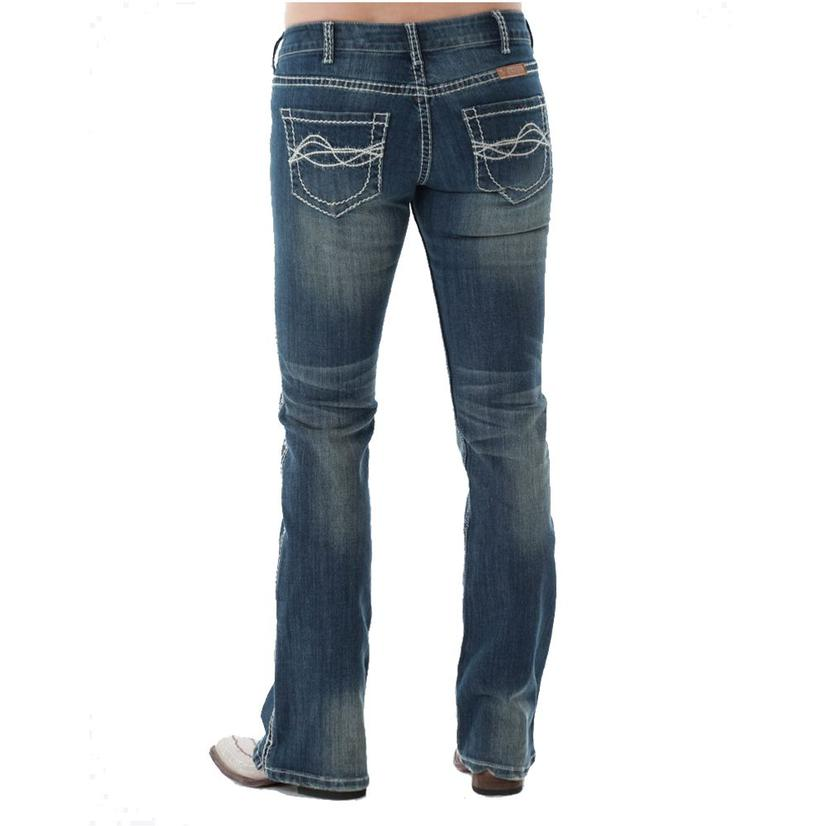 Cowgirl Tuff Dfmi Cream Natural Waist Western Jeans