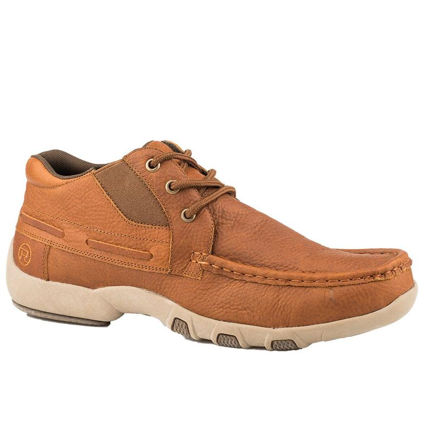 Roper Mens Tan Leather Lace Up Shoes