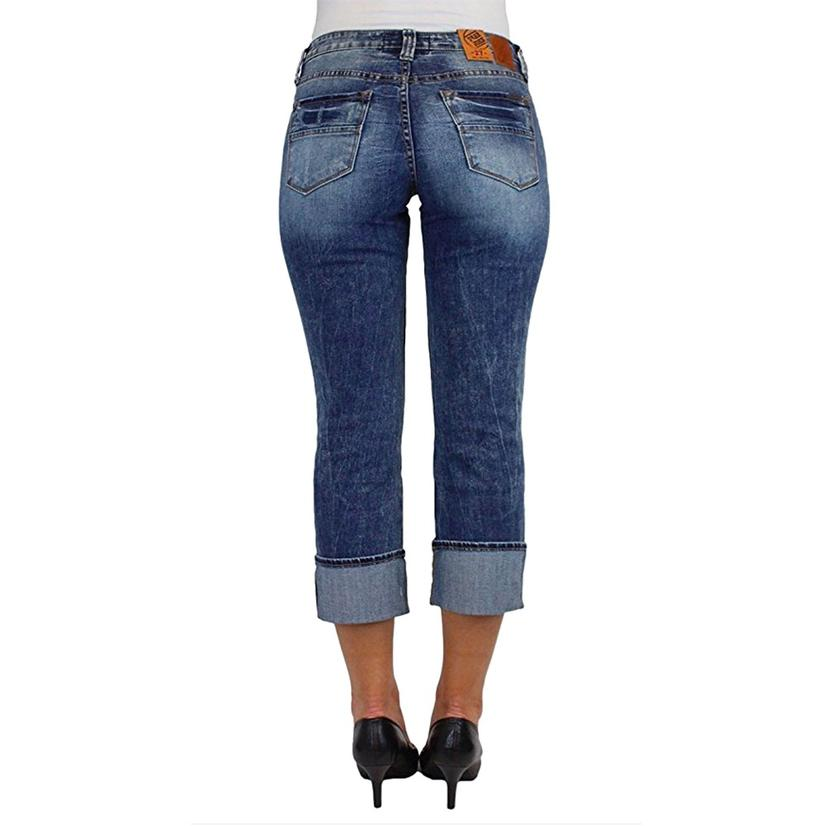 Dear John Womens Dynasty Playback Cuffed Jeans
