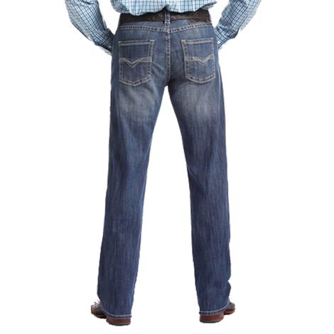 Rock & Roll Cowboy Double Barrel Reflex Light Wash Western Jeans