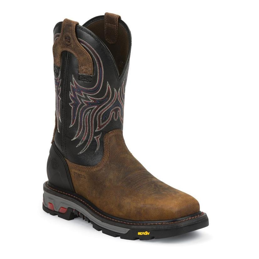 Justin Mens Tanker Steel Toe Work Boot