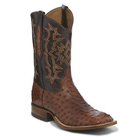 Tony Lama Mens Brandy Hermoso Full Quill Ostrich Boots