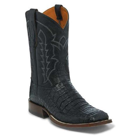 Tony Lama Mens Black Hornback Caiman Western Boots