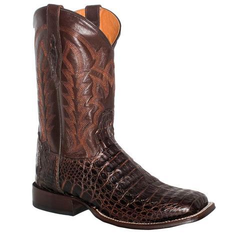 Tony Lama Mens Chocolate Hornback Caiman Western Boots