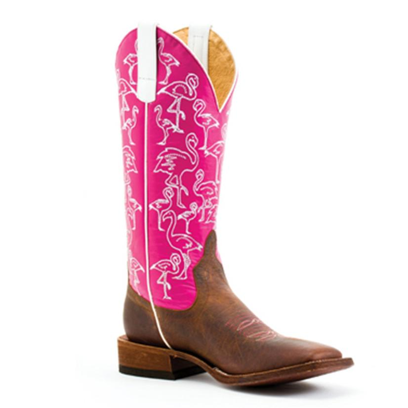 Macie Bean Womens Lets Flamingle Pink Western Boots