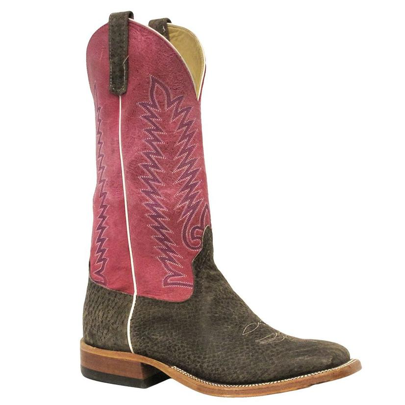 Anderson Bean Womens Pink Perfection Natural Boar Boots