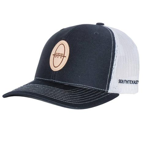 STT Navy Leather Patch Cap