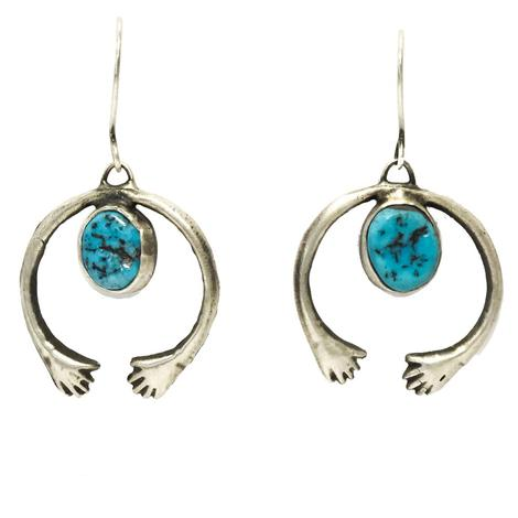 Love Tokens Squash with Turquoise Tag Earring