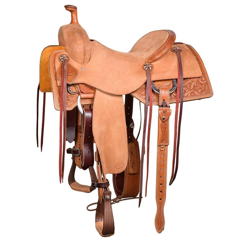 Stt Ranch Cutter Floral Tooled Skirt Light Oil Roughout Saddle