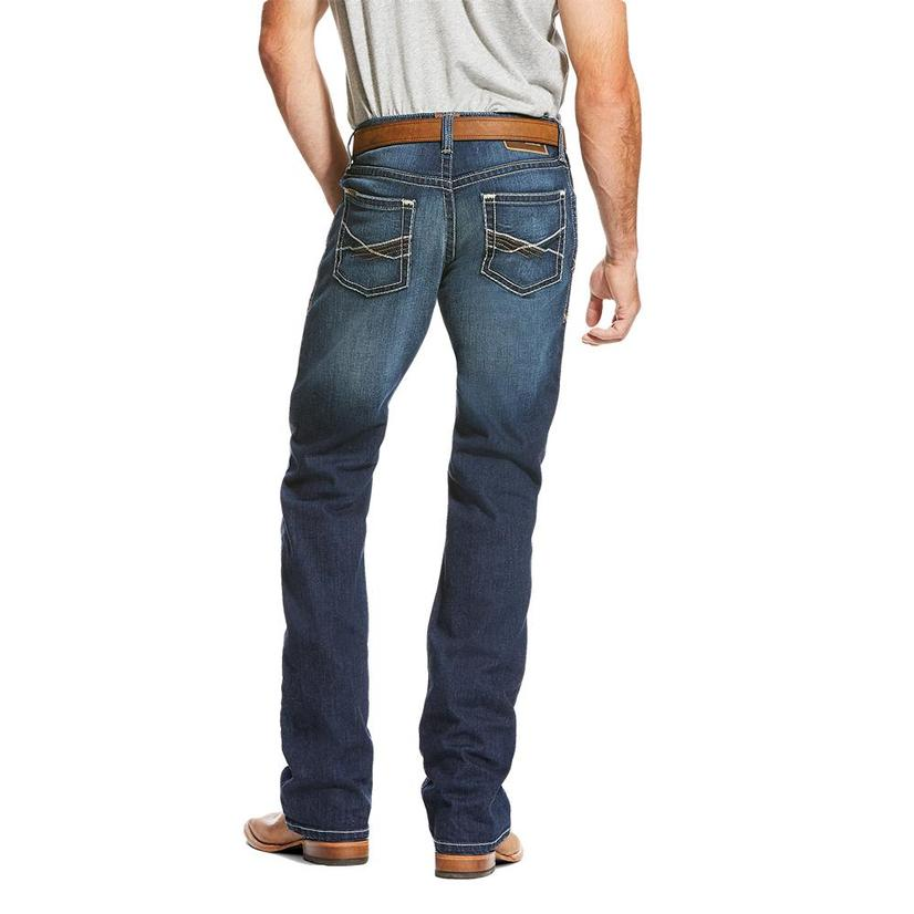 Ariat Mens M4 Tek Stretch Brackish Boot Cut Jeans