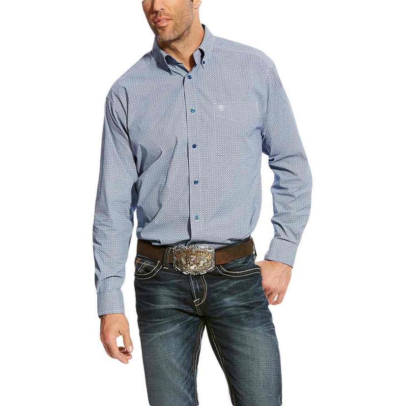 Ariat Mens Adell Royal Sapphire Spring Long Sleeve Shirt