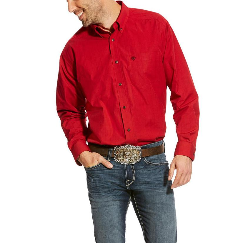 Ariat Carpenter Scarlet Ruby Long Sleeve Men's Shirt