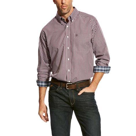 Ariat Zelinger Grey Plaid Long Sleeve Men's Shirt