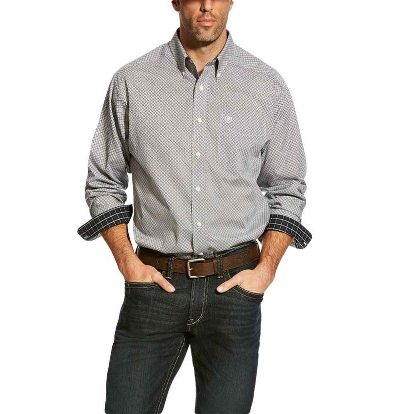 Ariat Zemo Black Print Long Sleeve Men's Shirt