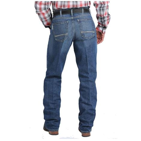 Cinch Mens Sawyer Loose Fit Medium Stonewash Western Jeans