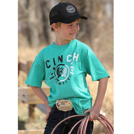 Cinch Boys Teal Logo T-Shirt