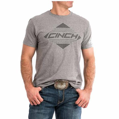Cinch Tri Color Grey Logo Men's T-Shirt