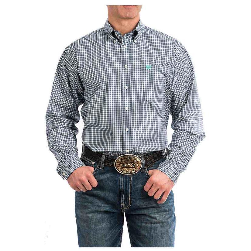 Cinch Multi Plaid Long Sleeve Button Down Men's Shirt