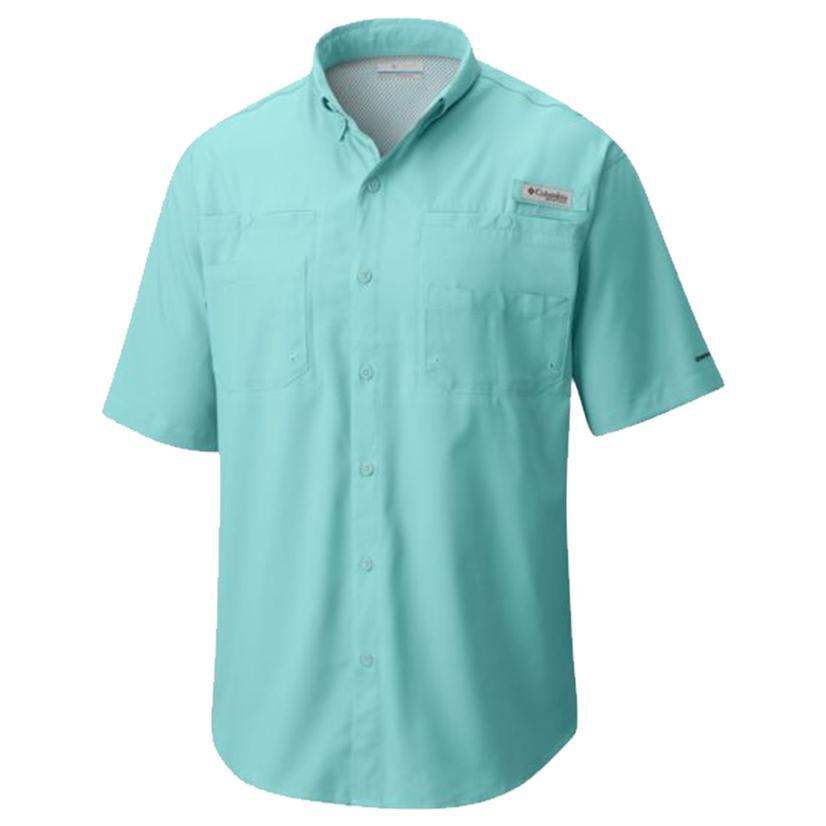 Columbia Mens Tamiami Ii Gulf Stream Short Sleeve Shirt