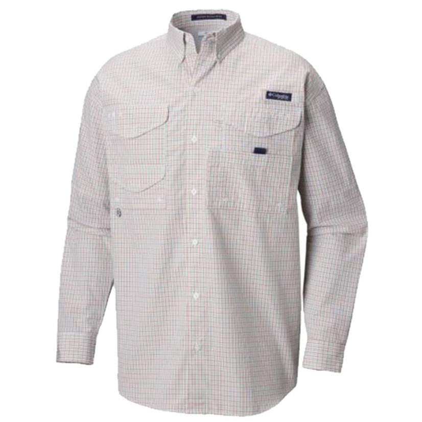 Columbia Mens Super Bonehead Moxie Minicheck Long Sleeve Shirt