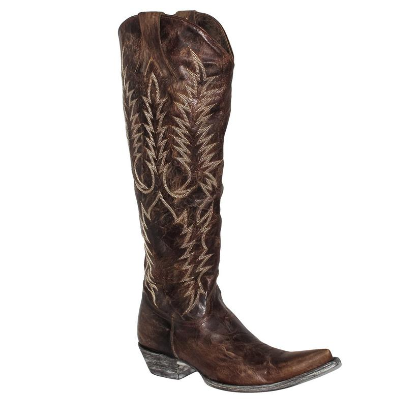 Old Gringo Womens Mayra Brown Snip Toe Extended Calf Boots