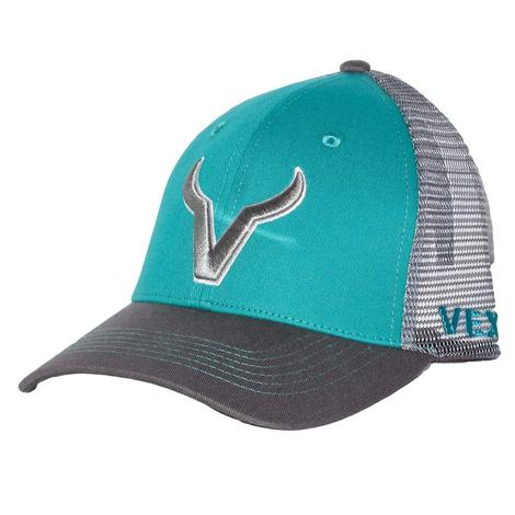Vexil Silver Grey Emblem Turquoise and Grey Mesh Back Cap
