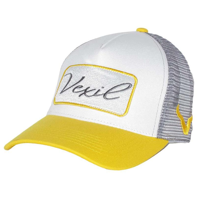 7ab9963afcf15 Vexil Yellow White Grey Patch Mesh Back Cap