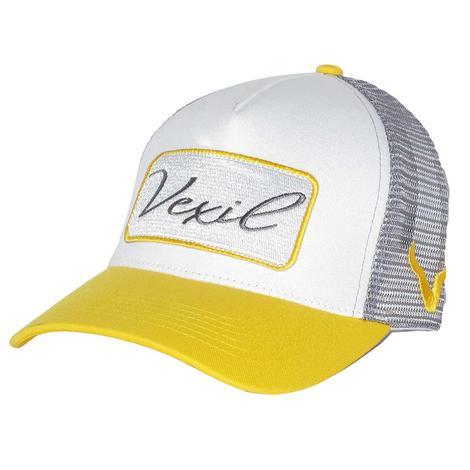 Vexil Yellow White Grey Patch Mesh Back Cap