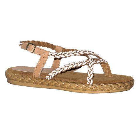 SBICCA Womens Woven Upper Thong Sandal