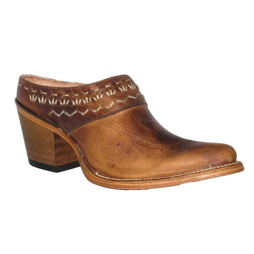 Circle G Womens Brown Woven Mule Style Slip- On Boot