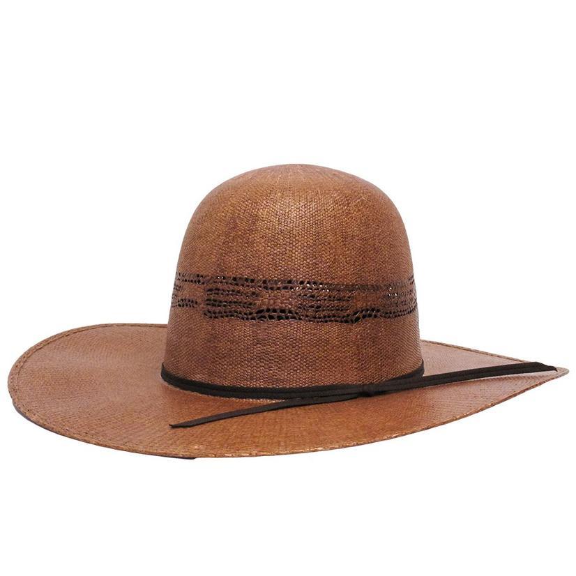 Brown Bangora Open Crown 4.25 Brim Straw Hat