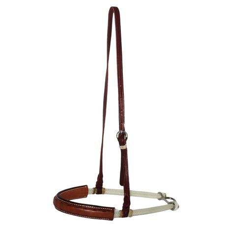 STT Crazy Shell 5/8in Light Oil Leather Covered Noseband