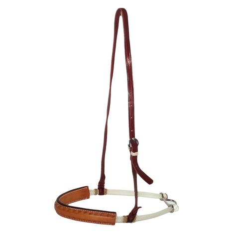 STT Single Weave 5/8in Leather Covered Noseband