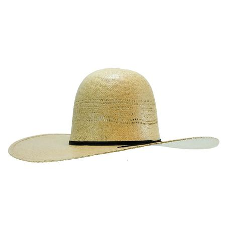 Rodeo King Burlap Bangora 4.5 Inch Open Crown Straw Hat